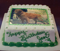 Cake with photo of dog